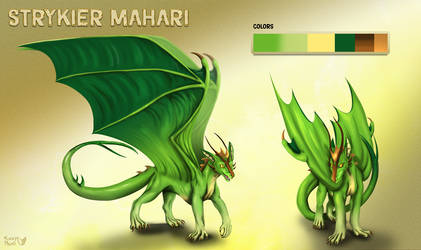 Green dragon- character sheet by FuzzyMaro
