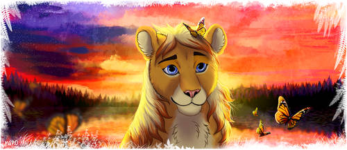 The delighted lioness by FuzzyMaro
