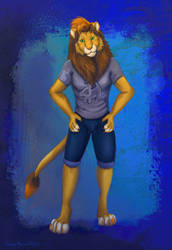 Anthro lion character