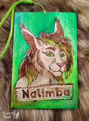 Nalimba- wooden badge
