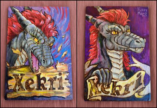 Dragon Xekri- Wooden badge