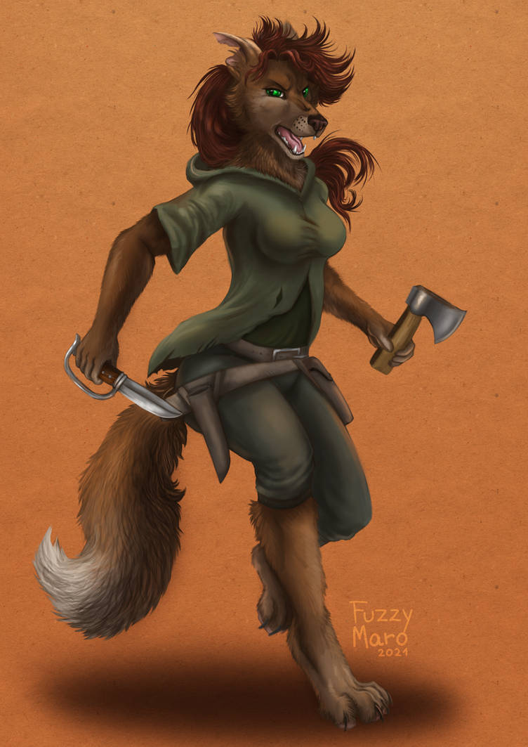 Character design- She wolf fighter