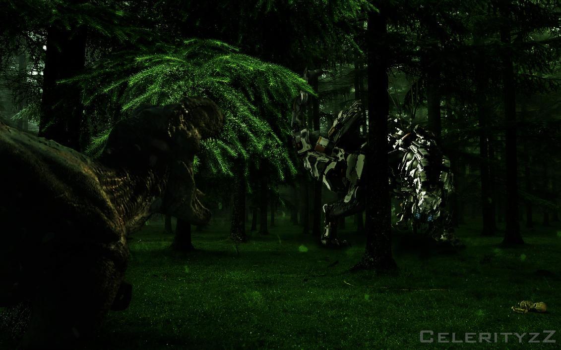 Rexy VS Neo-Rex by CelerityzZ