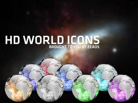 HD world icons