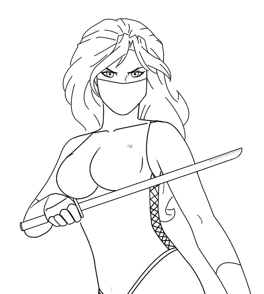 ninja coloring pages for girls - photo#20