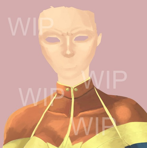 Captain Marvel WIP by BloodTalonHero