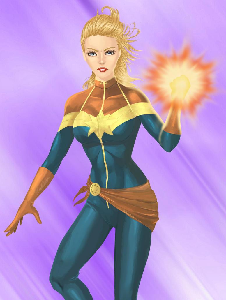 Captain Marvel by BloodTalonHero