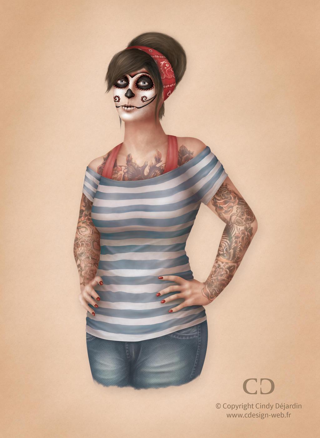 Sugar Skull Girl by cdesign-art