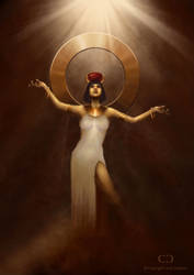 Egyptian Goddess by cdesign-art