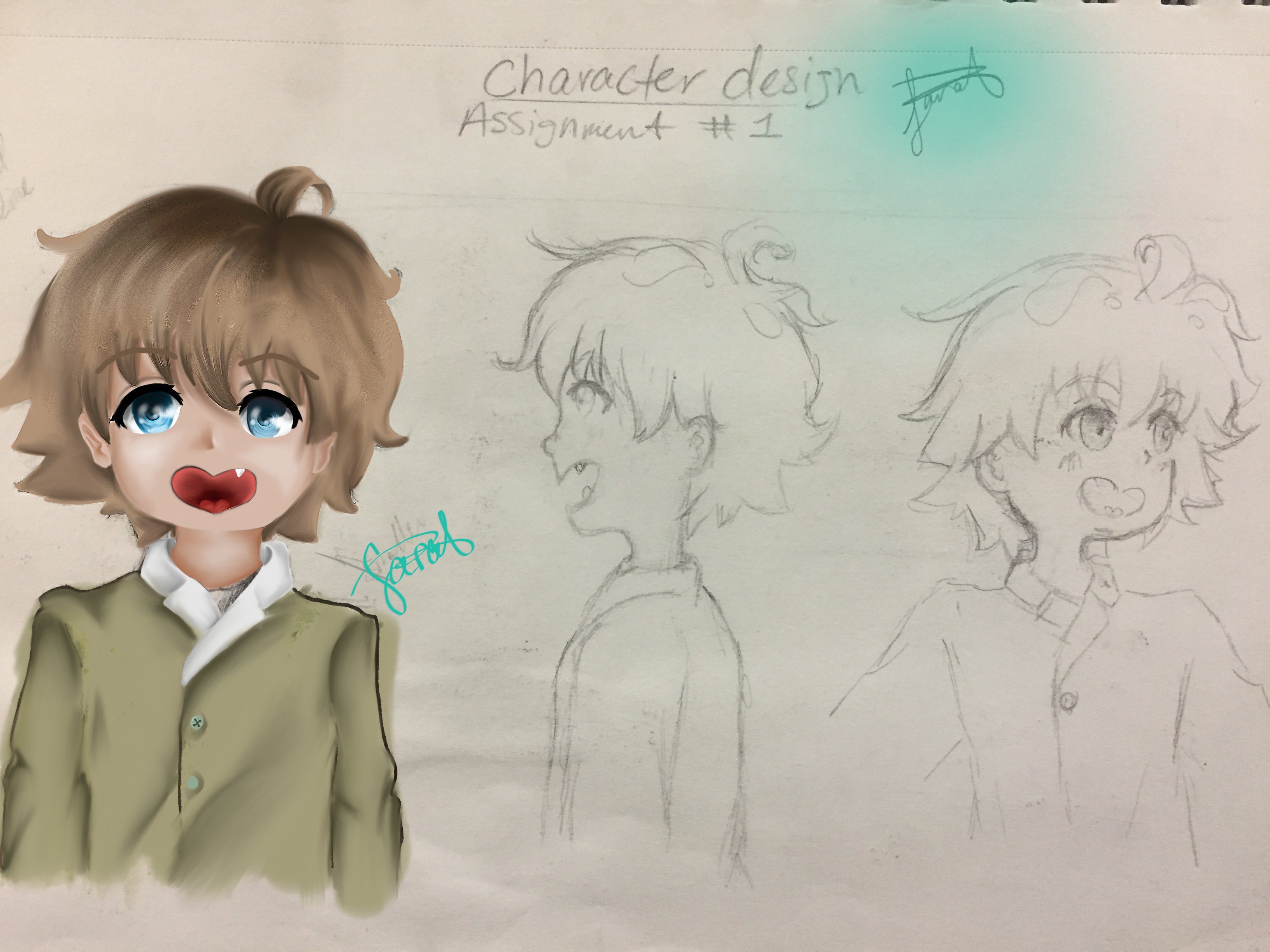 Character Design #1(Digitally colored) by Neko-chan1997