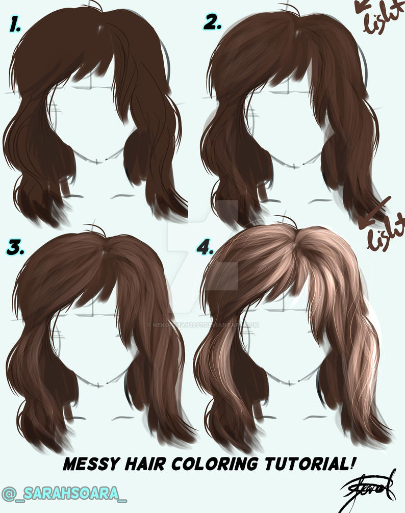 Hair Tutorial 1 By Neko Chan1997 On Deviantart