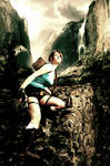 Climbing Tomb Raider