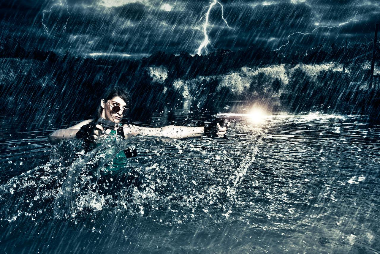 Lara Croft: Ready to fight ? by Visual-Aurelie