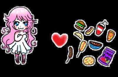 Unhealthy food:: by Minyann