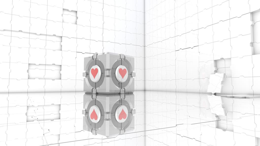 Companion cube wallpaper by EcripArts