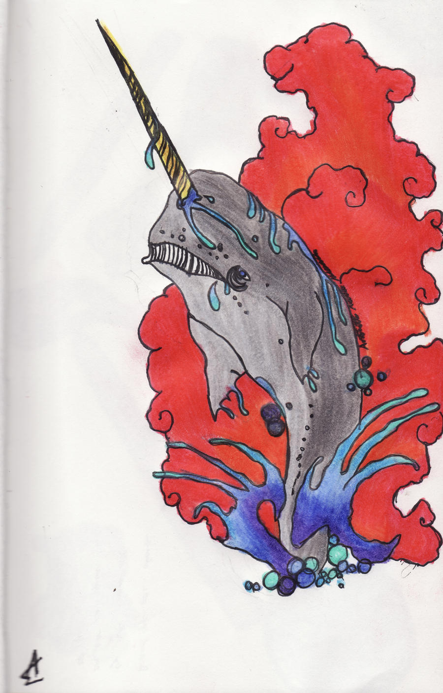 Narwhal Tattoo Designs