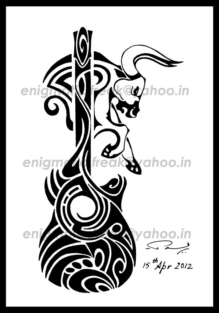 music taurus tribal tattoo by enigmatic freak on deviantart. Black Bedroom Furniture Sets. Home Design Ideas