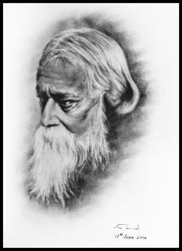 Rabindranath Tagore by  Rabindranath Tagore Sketch