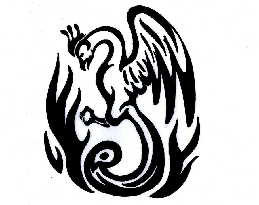 Line Art Animals Tattoo : Pheonix tattoo by jennypip on deviantart