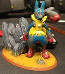 Mega Lucario Model Stand by OmegaWolf3d