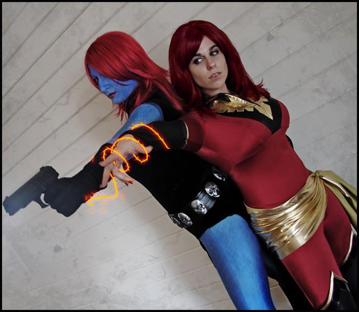 mystique and phoenix by WildIrish007