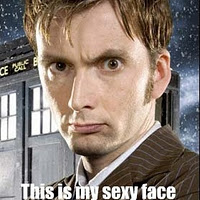 The 10th Doctor's sexy face by xXKatnissXx