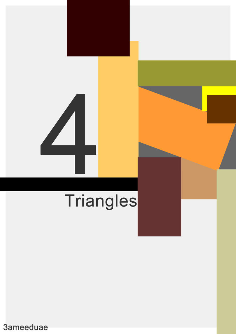 4 triangles by 3ameeduae