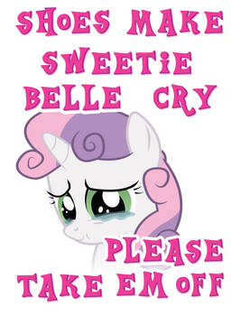 Sweetie Belle hates shoes