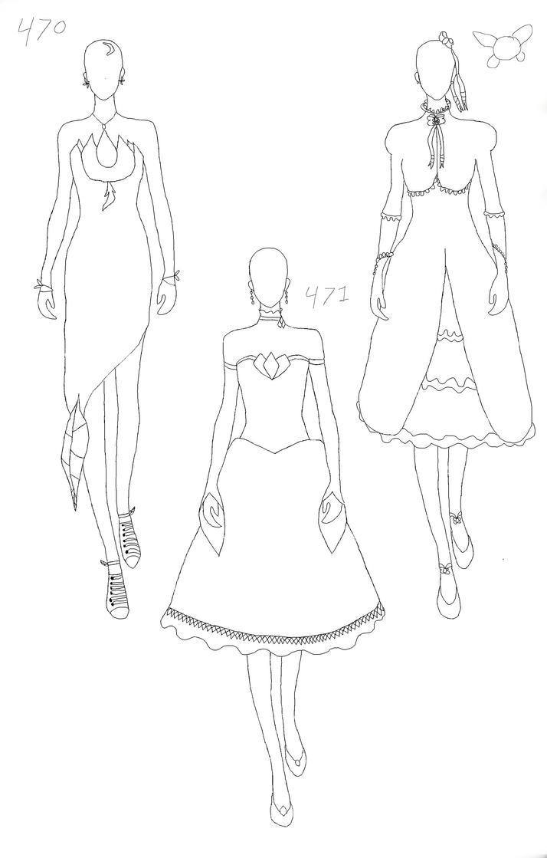 Eeveelution dress outline 3 by iRedRose on DeviantArt