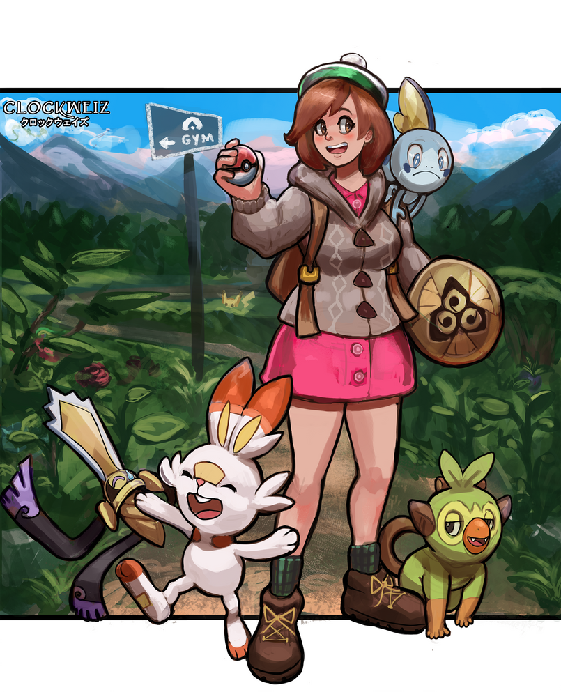 Pokemon Sword And Shield New Starters Tribute By Clockweiz On