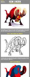 How I Work: A Lineless Illustration Tutorial by Versiris