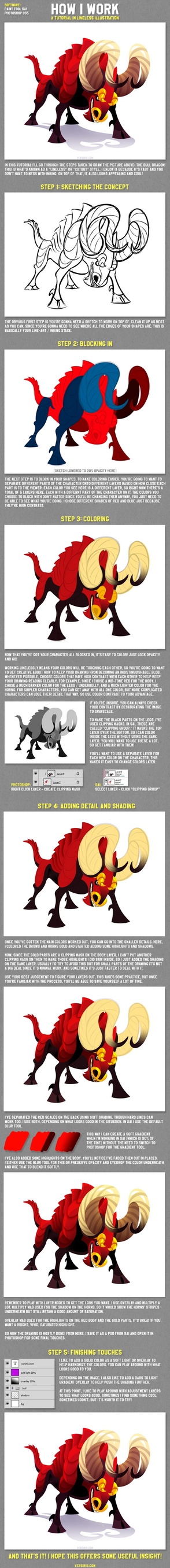 How I Work: A Lineless Illustration Tutorial by Versiris