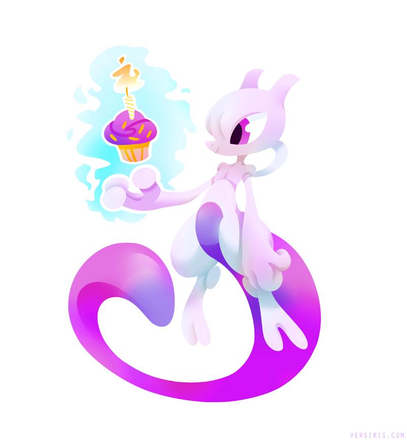 Happy Birthday Mewtwo by Versiris