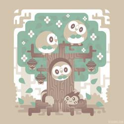 Wood Owl Woods [T-Shirt] by Versiris