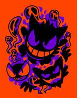 Ghastly Haunting Ghouls (T-Shirt) by Versiris