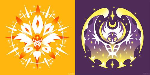 Radiant Sun + Full Moon (T-Shirts)