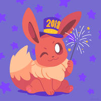 New Years Eevee by Versiris