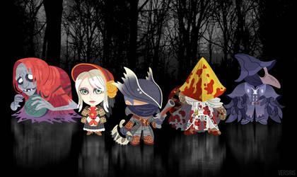 Bloodborne Keychain Mascots