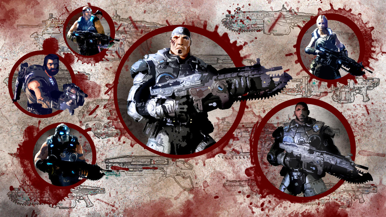 gears of war 3 wallpaper 1artiphats on deviantart
