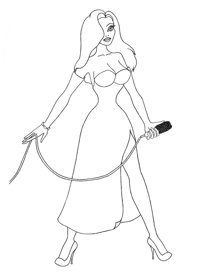 Lineart jessica rabbit by oginz on deviantart for Jessica rabbit coloring pages
