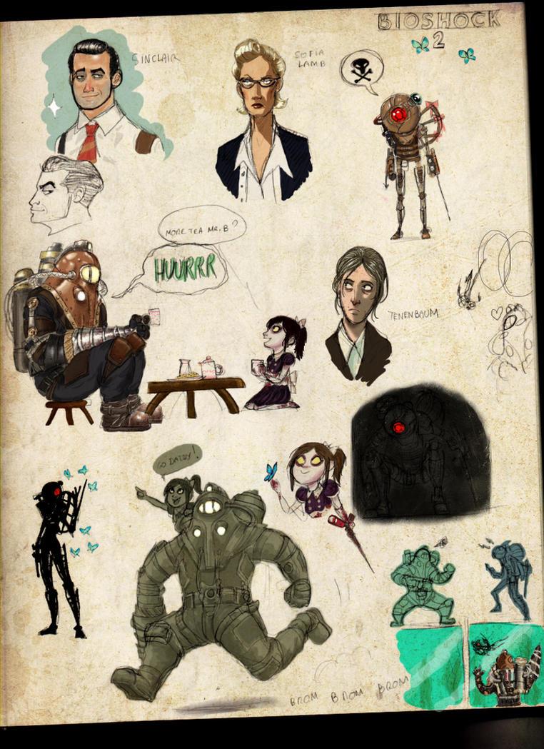 BIOSHOCK 2 doodles by GrievousGeneral