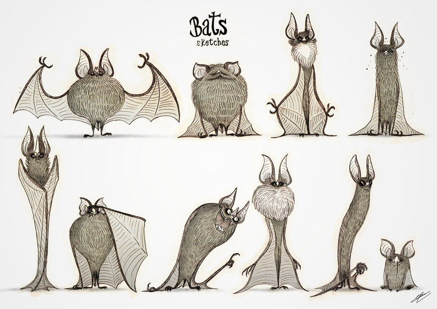 BATS SKETCHES by GrievousGeneral