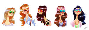SUNGLASSES GIRLS SKETCH