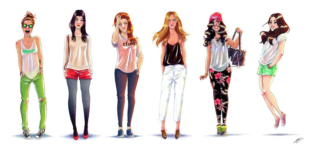 Fashion Girl Sketch Tumblr Fashion Girls Sketches Vol 2