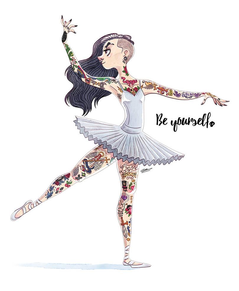 Апреля, картинки балета для срисовки