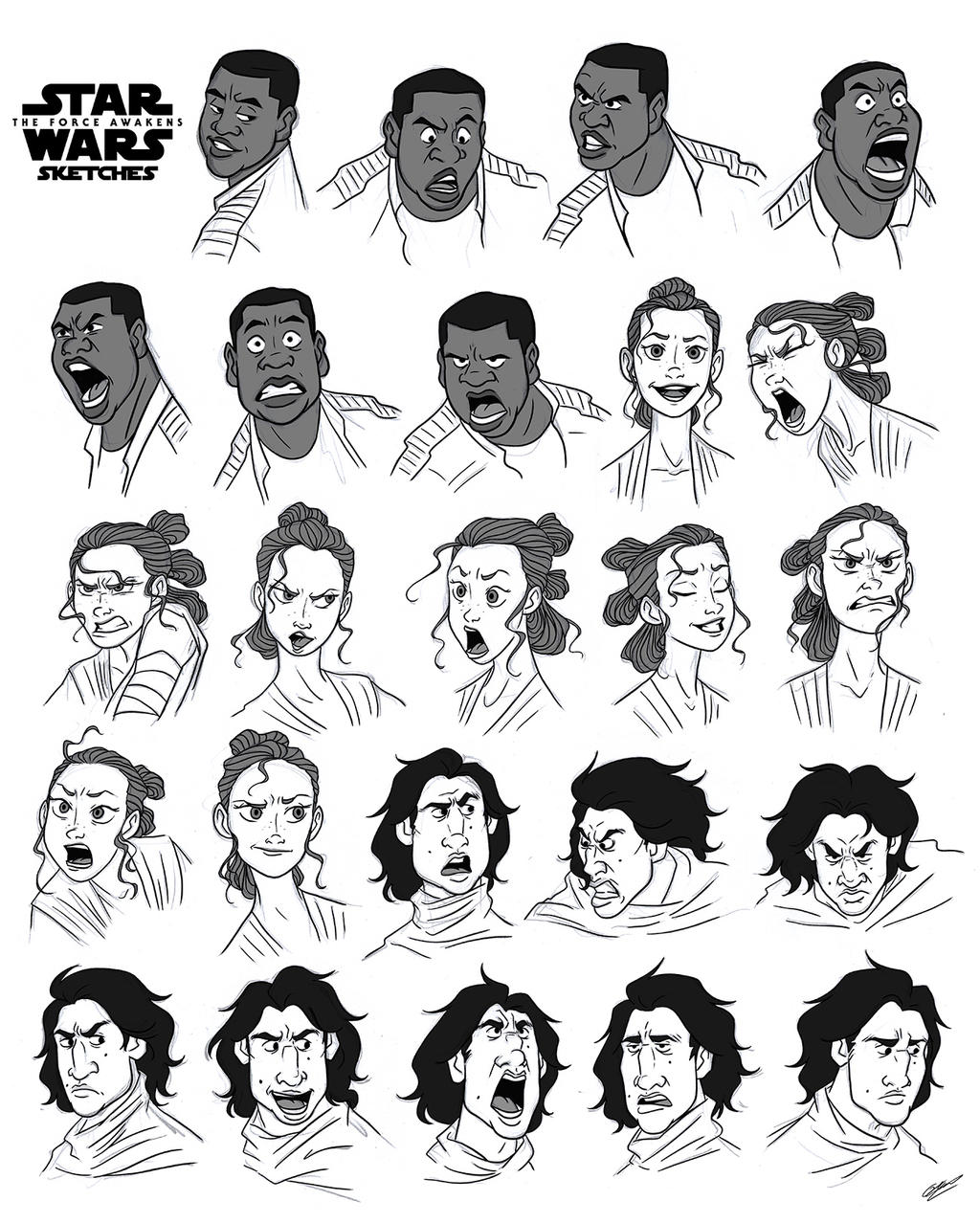 STAR WARS CHARACTERS SKETCHES By GrievousGeneral On DeviantArt