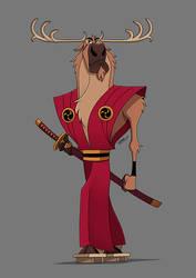 REINDEER SAMURAI by GrievousGeneral
