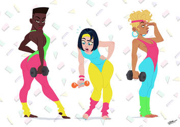 80s SPORT GIRLS by GrievousGeneral