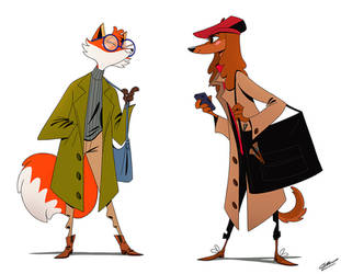 FOX AND DOG STUDENT by GrievousGeneral
