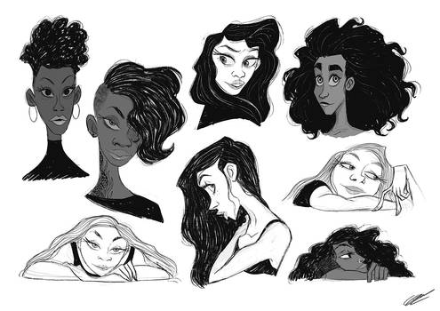 GIRLS SCRIBBLES
